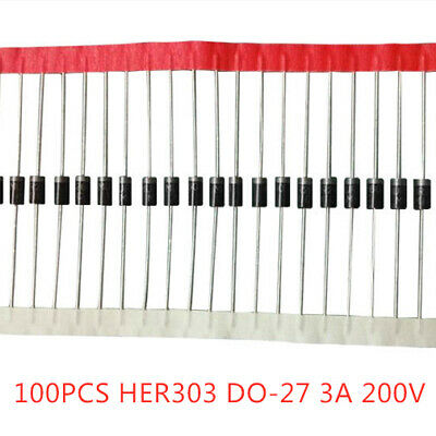 30pcs HER303 3Amp 200V High Efficiency Rectifier Diode -UKS