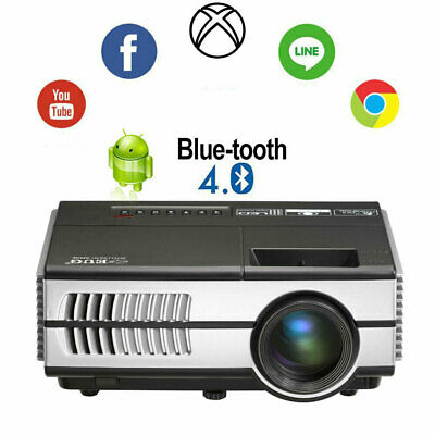 Smart Android Bluetooth WiFi HD Projector Online TV Home Theater HDMI Xbox Video