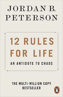 NEW 12 Rules for Life: An Antidote to Chaos By Jordan B. Peterson Paperback 2019