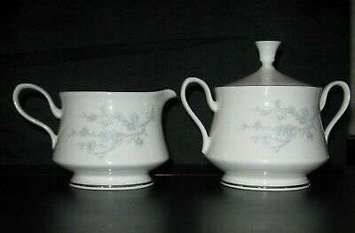 Oxford Bone China/Lenox - TWILIGHT DELL Pattern - Creamer & Sugar Bowl Set - VG