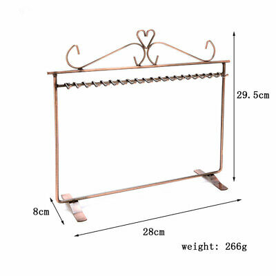 Wrought Jewelry Display Stand Earring Storage Racks Necklace Holder Organizer