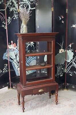 Antique Mahogany Cabinet Cupboard Glazed Front & Back  - Delivery Available