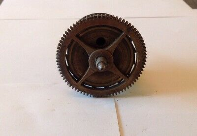 Antique LongCase Grandfather Clock Drive Wheel Cog Weight Driven 71mm