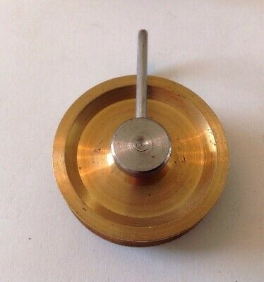 Clock Wheel Brass Pulley Ex Clockmakers Spare Parts 40mm Diam. For Wire Or Cord