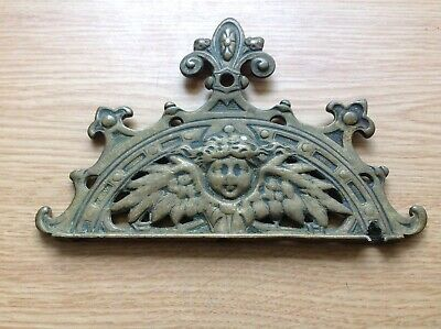 VINTAGE Brass Clock Pediment Zaanse 400 Day Anniversary Torsion Style 135x93mm