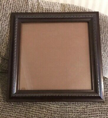 Vintage/antique Large Square Carved Oak Wooden Picture/photo Frame