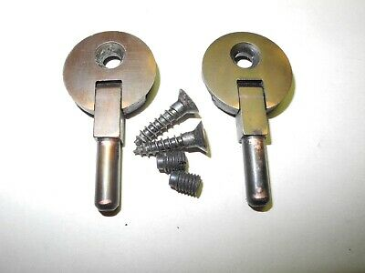 Vintage Singer Sewing Machine Cabinet Head Pin Hinges 1 Hole Copper Finish Nice