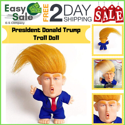 Ess Collectible President Donald Trump Troll Doll Desk Decoration Dashboards Car