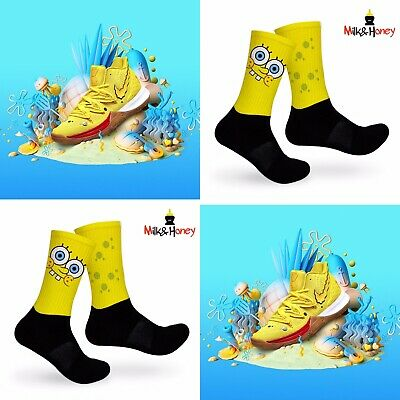 Kyrie SpongeBob Customized Socks