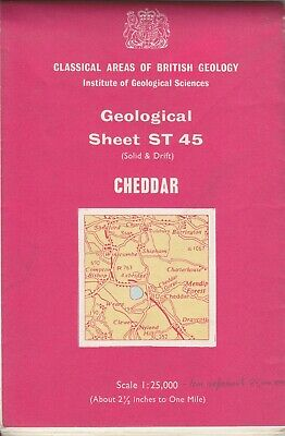 Institute of Geological Sciences - Sheet ST 45 Cheddar (Solid & Drift) 1:25,000