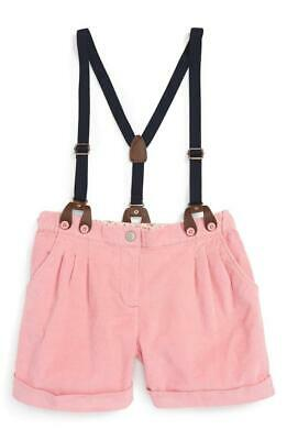 MINI BODEN pink 'The Everyday' Suspender Shorts Girl 7 yr  / NWT