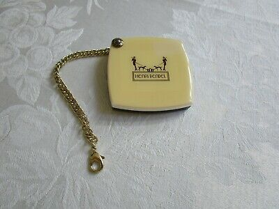 Authentic Henry Bendel Compact Mirror w/Chain Vintage Good