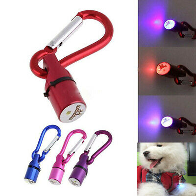 Aluminum Luminous Mode LED Pet Pendant Dog Collar Tag Flashing Light Cat Puppy