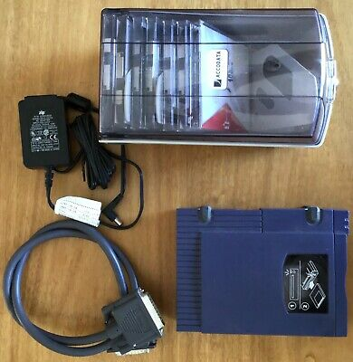 Iomega Zip drive 100Mb SCSI with 7 disks in case Z100S2 original power and cable