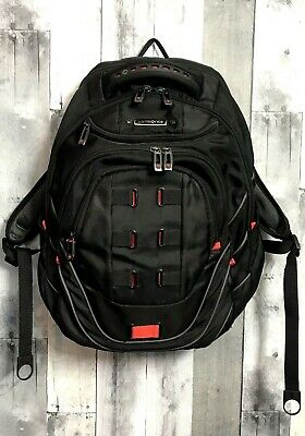 """Samsonite Tectonic 17"""" Perfect Fit Laptop Backpack Black Red With Strap Flaw"""