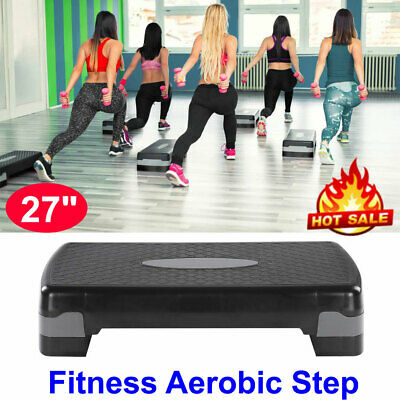 """27"""" Fitness Aerobic Step Cardio Adjustable Exercise Stepper Trainer Gym Exercise"""