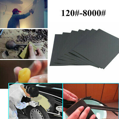 Polished Tools Wet Dry Sandpaper 120-8000 Grit Abrasive Sanding Paper Sheet
