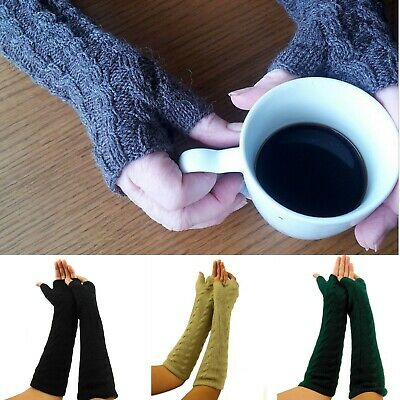 Finger-Less Gloves MITTENS Alpaca Winter Gloves One Size