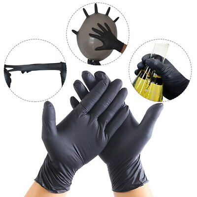 20PCS Disposable Powder Free Black & Blue Vinyl Gloves Food Medical Surgical New
