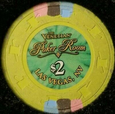 $2 Casino Venetian Chip Poker Room Las Vegas, Nevada NV Gaming Hotel Drop Green