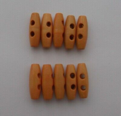 Wooden Toggles Brushed( 2cm 2 Hole )  Buttons x 10