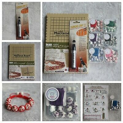 DIY Macrame Bead Jewellery Bracelet Making Kit Stocking Filler + Instructions