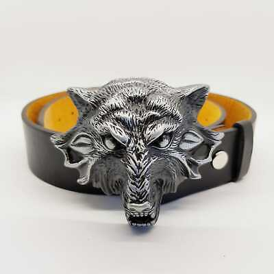 3D Wolf Head Snarling Belt Buckle Twilight Celtic Tribal Navajo American Wild