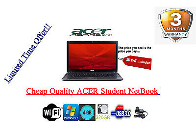 Cheap Acer Aspire One 753 Netbook LAPTOP | 4GB | 320GB | WiFi | Win 7 |HDMI