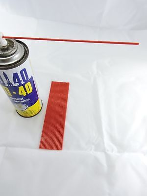 """15 x WD40 Little Red Straws 6 """" Tubes for Can spray Nozzle tip Rust Oil Nozzle"""