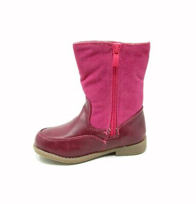 Girls Fur-Lined Ankle Calf Pink Warm Winter Boots Shoes Junior Infant Sizes 7-13