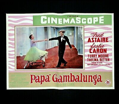 PAPà GAMBALUNGA fotobusta poster Fred Astaire Leslie Caron Daddy Long Legs DF35