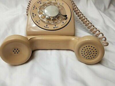 Vintage Rotary Dial Desk Phone WESTERN ELECTRIC BELL SYSTEM Model 500DM GREAT!