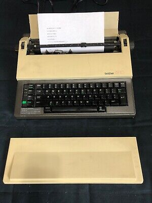 VTG Brother AX-10 Electric Typewriter + Lift Off Tape, Ink & More - Excellent