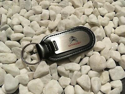 CITREON Key Ring Etched and infilled On Leather