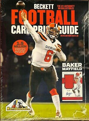 2019-20 Beckett Football Card Annual Price Guide 36th Edition $39.95SRP Mayfield