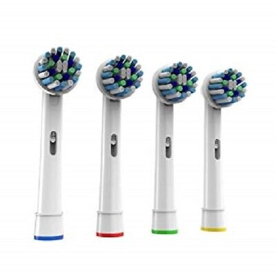 4 Replacement Heads for Oral B Electric Toothbrushes Cross action