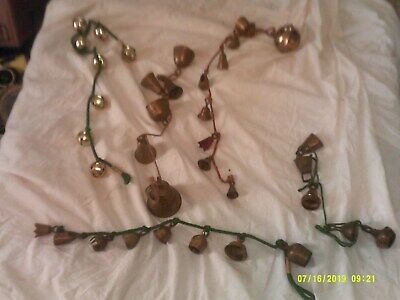 Lot Of Vintage Brass Jingle Bells