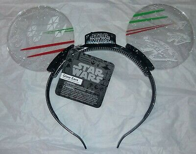 Disney Parks STAR WARS Animated Light Up Mickey Glow Ears Headband ~ NWT