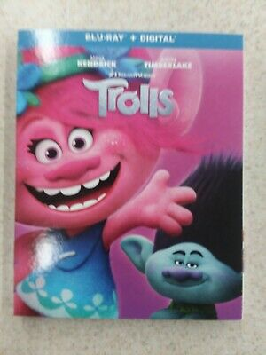 Trolls (Bluray/Digital wth Slipcover) Brand New  Anna Kendrick
