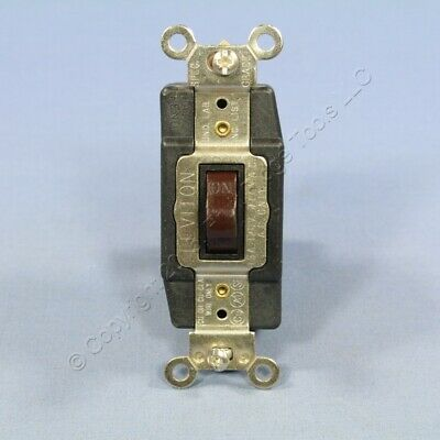Leviton SPDT Single Pole Double Throw Center-Off Maintained Switch 15A Bulk 1281