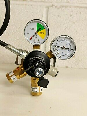 Twin Gauge Mixed Gas Beer Gas Regulator Pub Beer Cellar Equipment