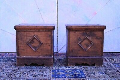 Couple Small Chests/Ancient/Decor Antique Rustic / '800