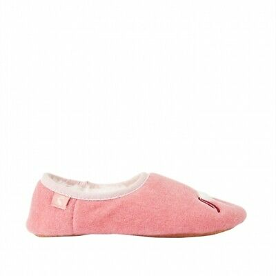 Joules SLIPPET Girls Warm Soft Felt Mule Faux Fur Lined Slippers Pink Unicorn