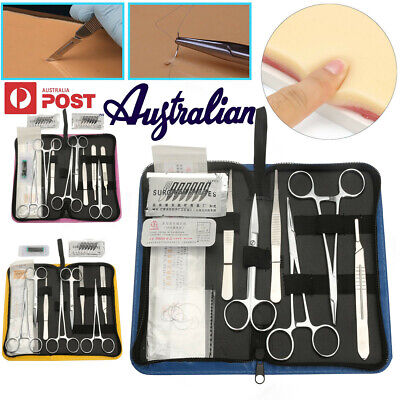 AU 11/13/19Pcs Suture Practice Kit Suturing Tools Medical Vet Training Student