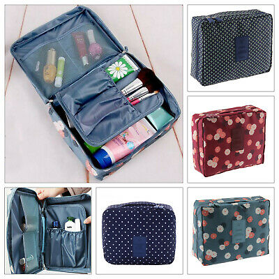 Travel Cosmetic Storage MakeUp Bag Organizer Pouch Case Folding Hanging Toiletry