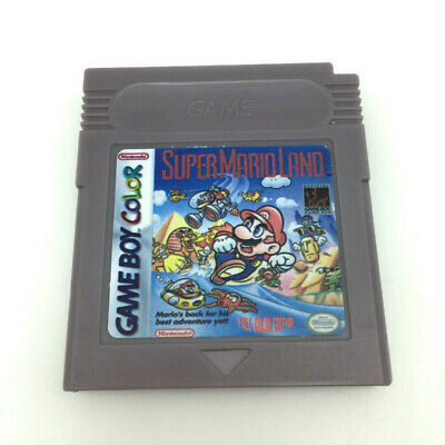 Super Mario Land Cartridge Card for Game Boy Color Advance GBC GBA SP English