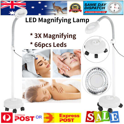 3X Diopter LED Magnifying Floor Stand Lamp Glass Len Magnifier for Tattoo Beauty