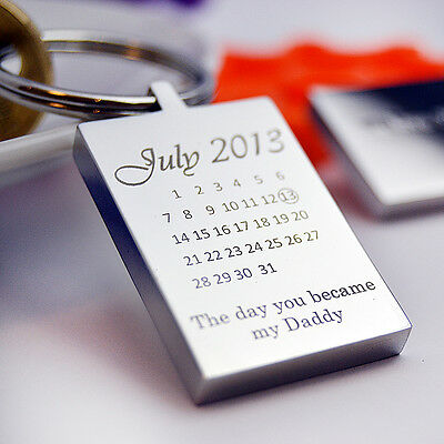 Personalised Calendar and Photo Keyring, Heart Keychain, Valentine's day gift