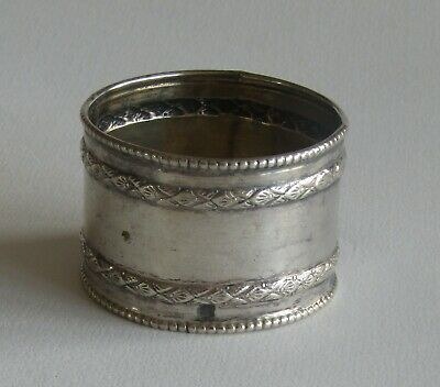 ROND DE SERVIETTE en ARGENT MASSIF Poinçon minerve SILVER NAPKIN RING HOLDER