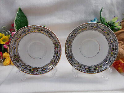 LOVELY ROYAL STAFFORD SAUCERS ENGLISH BONE CHINA MADE IN ENGLAND 13+ cm W # 520